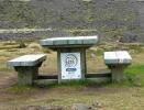 Merkingar við upphaf gönguleiðar